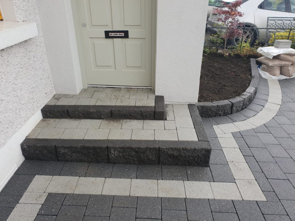 Driveway and Patio Step Installations