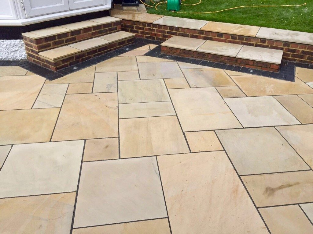 Indian Sandstone Patio in Leighton Buzzard